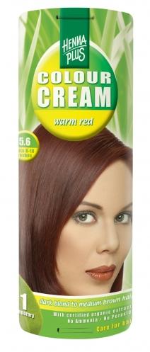 Colour Cream looduslik poolpüsivärv, Soe punane 5.6